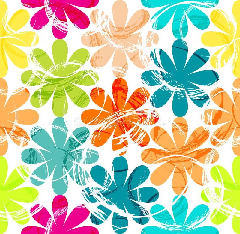Modèle sans couture de fleur illustration de vecteur