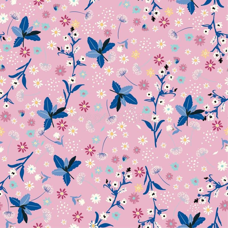 Modèle sans couture de fleur en pastel de liberté, I à la mode doux élégant illustration stock