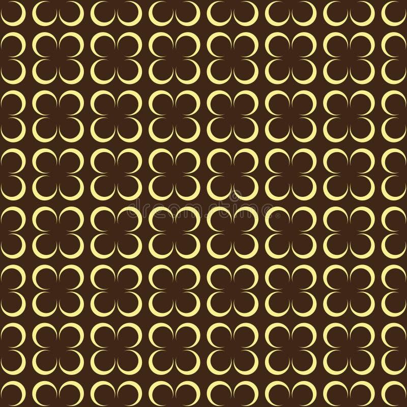 Modèle sans couture de fleur géométrique pour la dispersion Vecteur illustration libre de droits
