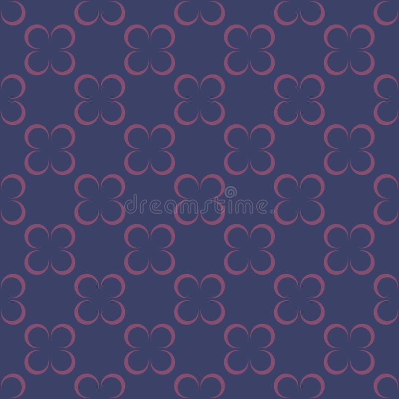 Modèle sans couture de fleur géométrique pour la dispersion Vecteur illustration de vecteur