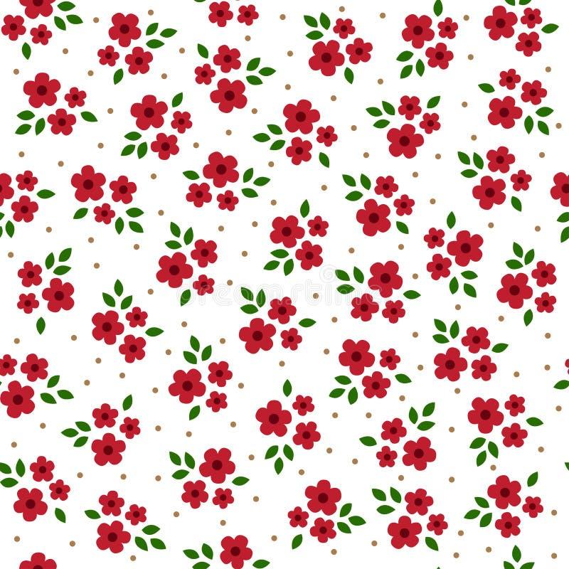 Modèle sans couture de fleurs colorées mignonnes de vecteur illustration libre de droits