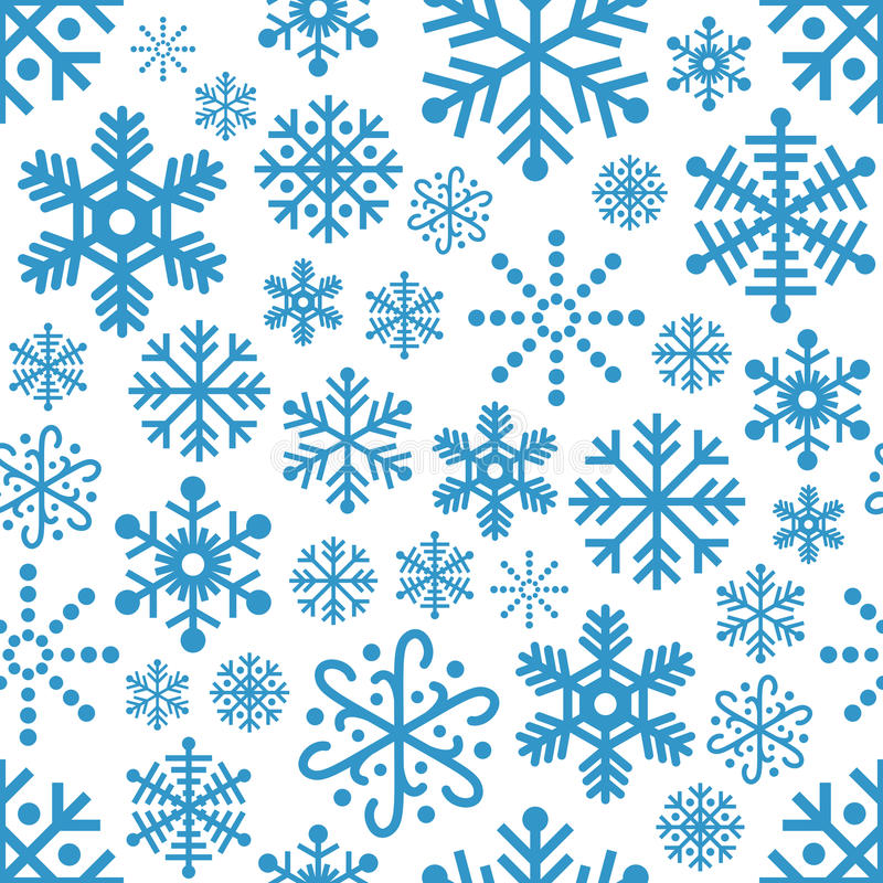 Modèle sans couture de flocons de neige illustration de vecteur