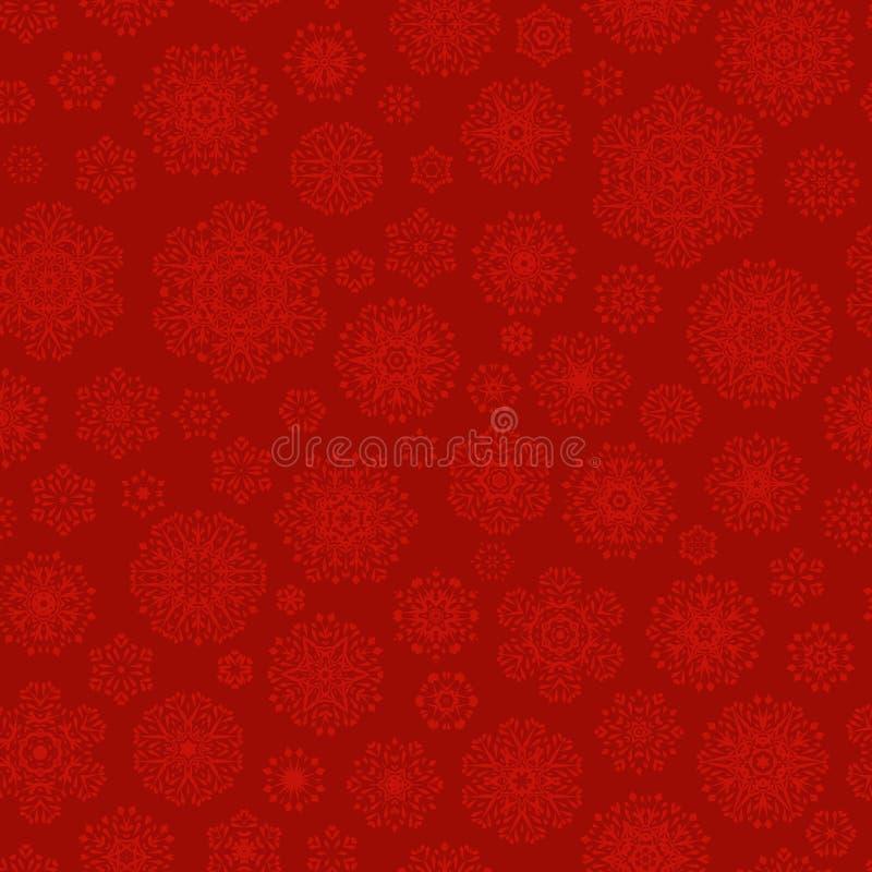 Modèle sans couture de flocons de neige rouges Vecteur d'ENV 10 illustration de vecteur