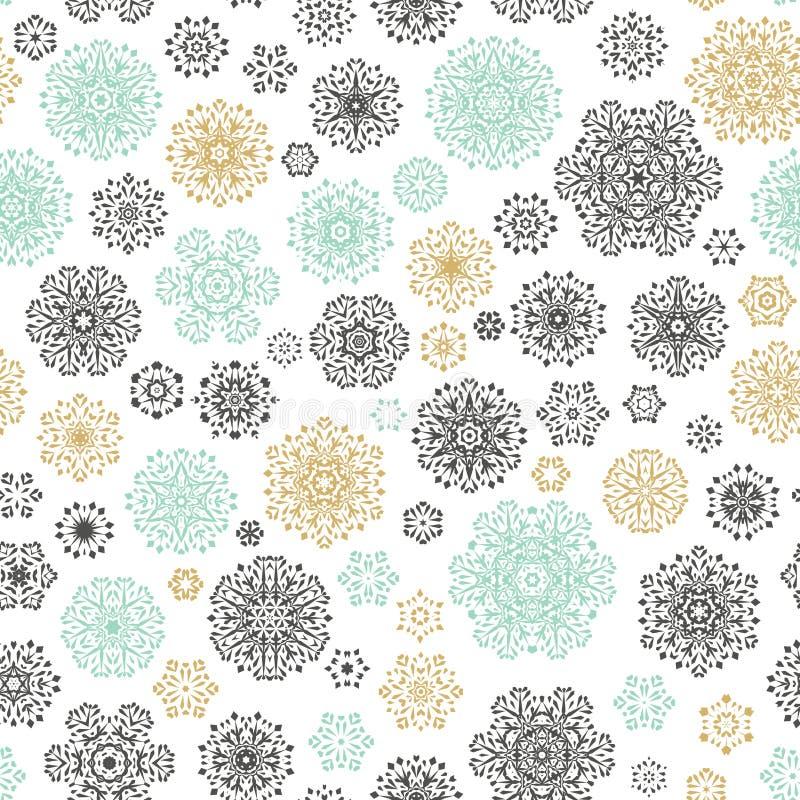 Modèle sans couture de flocons de neige de vintage Vecteur d'ENV 10 illustration de vecteur