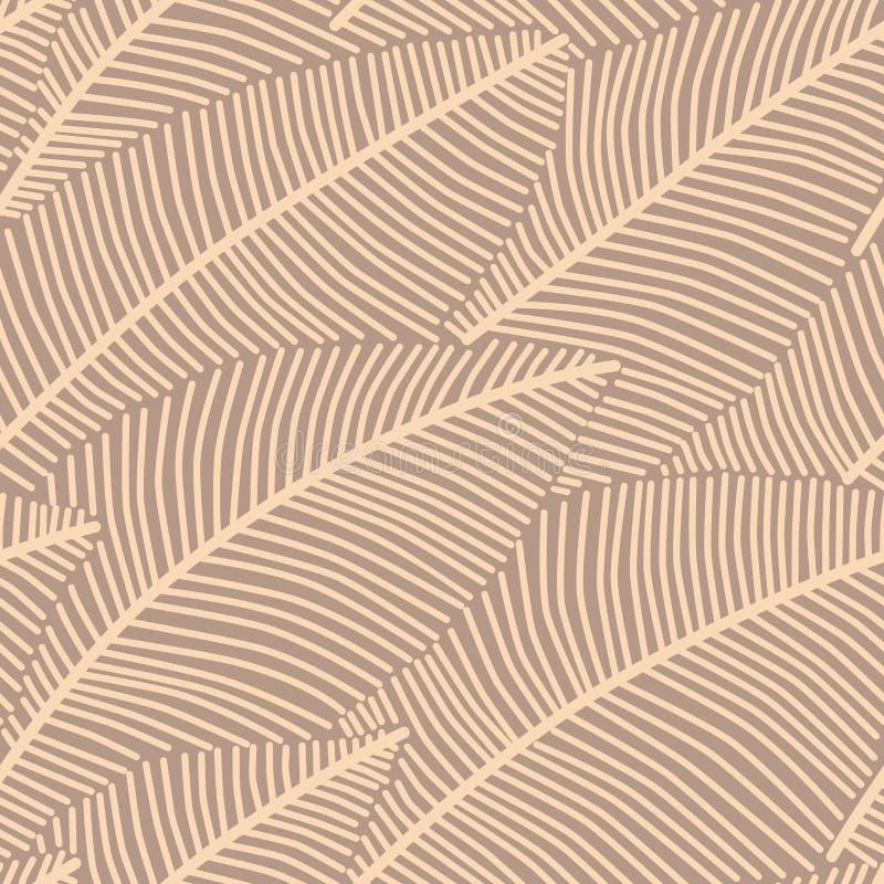 Modèle sans couture de fond avec les plumes abstraites illustration stock