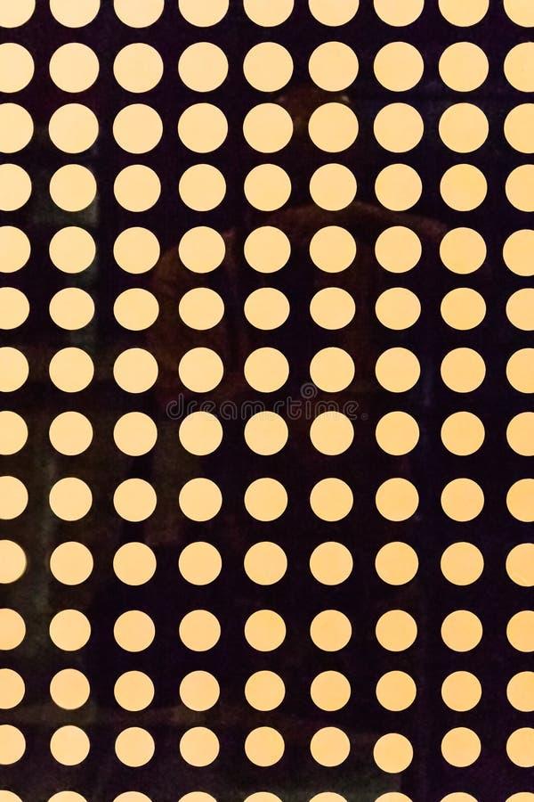 Modèle sans couture de fond avec les points tramés Couleurs jaunes et brunes illustration libre de droits