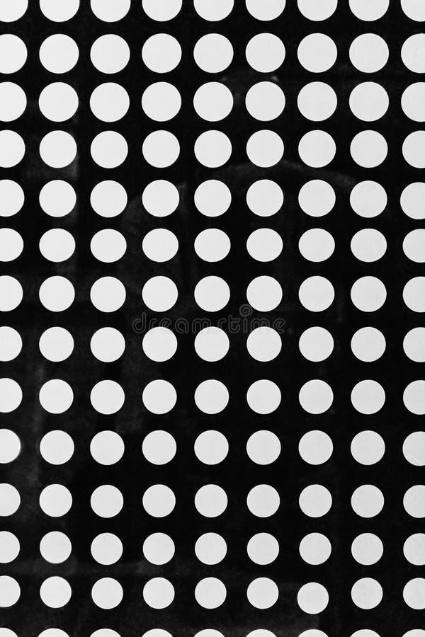 Modèle sans couture de fond avec les points tramés, couleurs noires et blanches illustration libre de droits