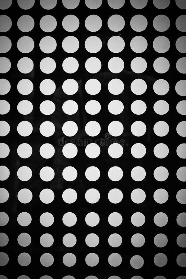Modèle sans couture de fond avec les points tramés Couleurs noires et blanches illustration libre de droits