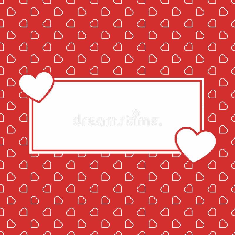 Modèle sans couture de fond d'amour de coeurs rouges pour Valentine ou jour de la femme de la mère pour le decorat romantique de  images libres de droits