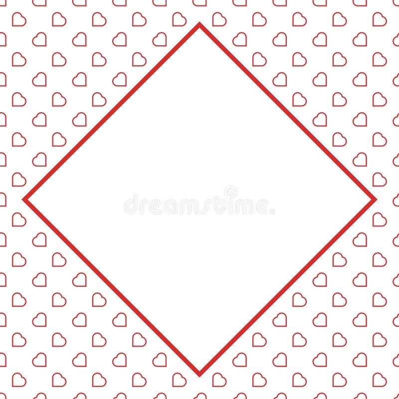 Modèle sans couture de fond d'amour de coeurs rouges pour Valentine ou jour de la femme de la mère pour le decorat romantique de  photographie stock
