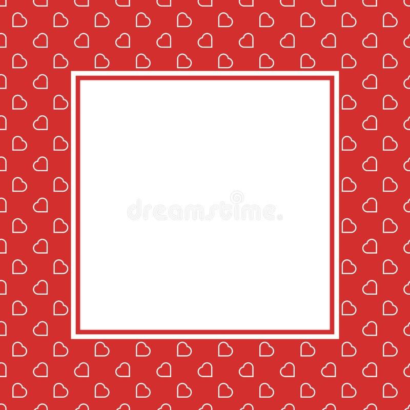 Modèle sans couture de fond d'amour de coeurs rouges pour Valentine ou jour de la femme de la mère pour le decorat romantique de  photo libre de droits
