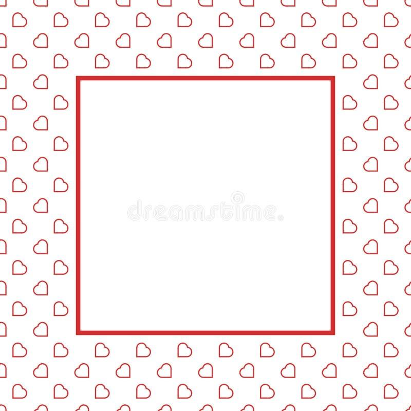 Modèle sans couture de fond d'amour de coeurs rouges pour Valentine ou jour de la femme de la mère pour le decorat romantique de  photographie stock libre de droits