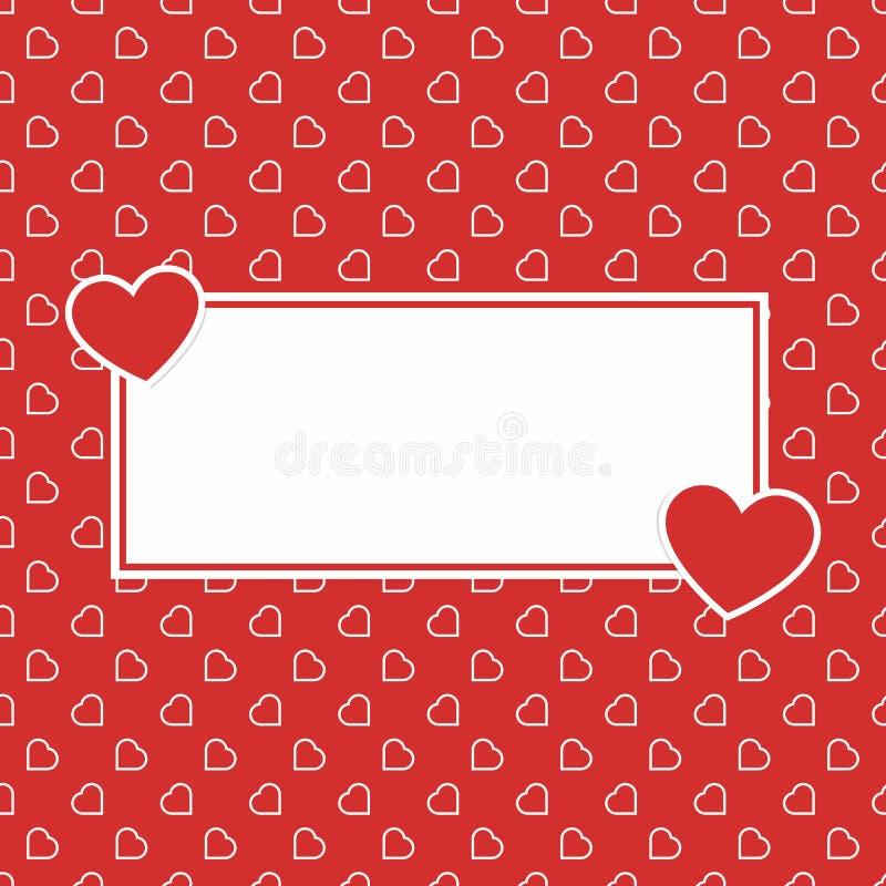 Modèle sans couture de fond d'amour de coeurs rouges pour Valentine ou jour de la femme de la mère pour le decorat romantique de  photos libres de droits