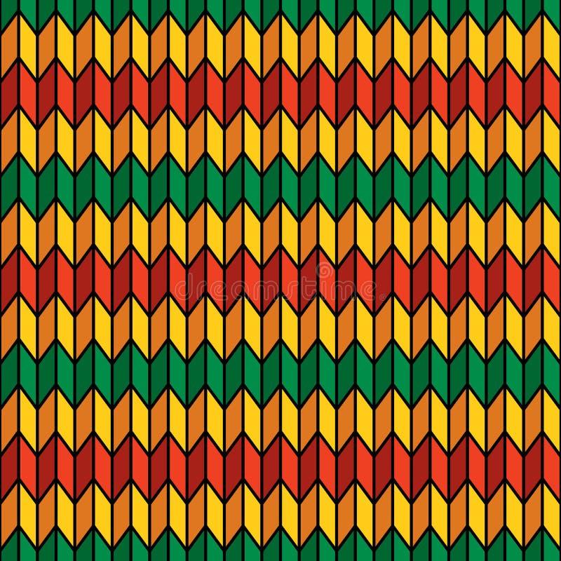 Modèle sans couture de fond dans des couleurs de rasta illustration stock