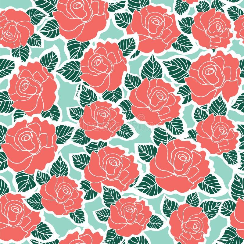 Modèle sans couture de fond de fleur rose illustration libre de droits