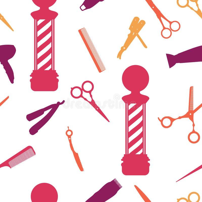 Fond Sans Couture De Salon De Coiffure Illustration de Vecteur - Illustration du coiffeur, mode ...
