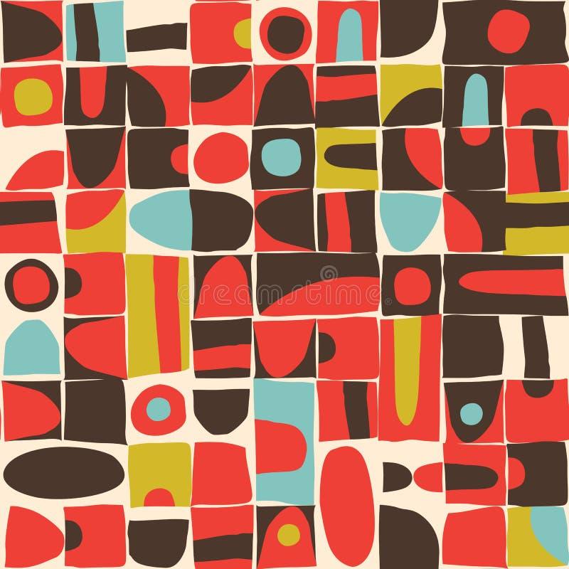 Modèle sans couture de formes géométriques désordonnées illustration libre de droits