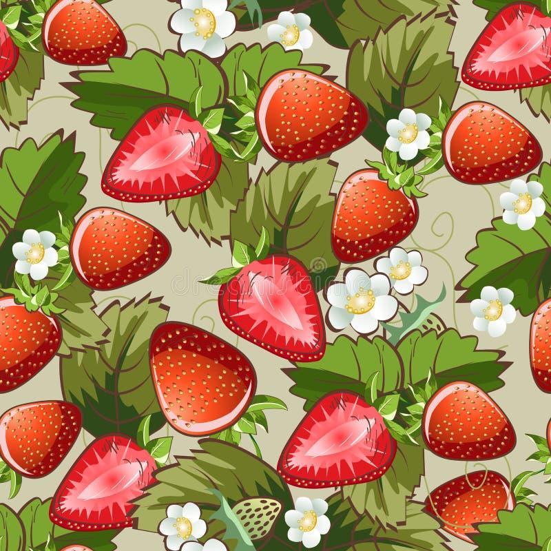 Modèle sans couture de fraise illustration libre de droits