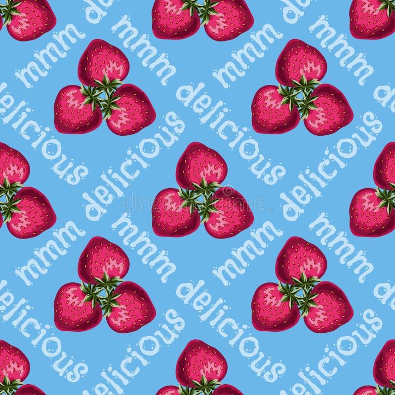 Modèle sans couture de fraises illustration libre de droits
