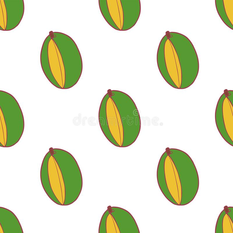 Mod?le sans couture de fruit de mangue illustration stock