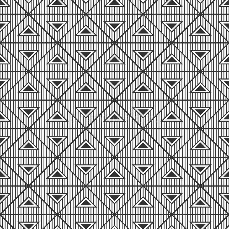 Modèle sans couture de modèle géométrique abstrait Triangles rayées Ornement ethnique illustration libre de droits