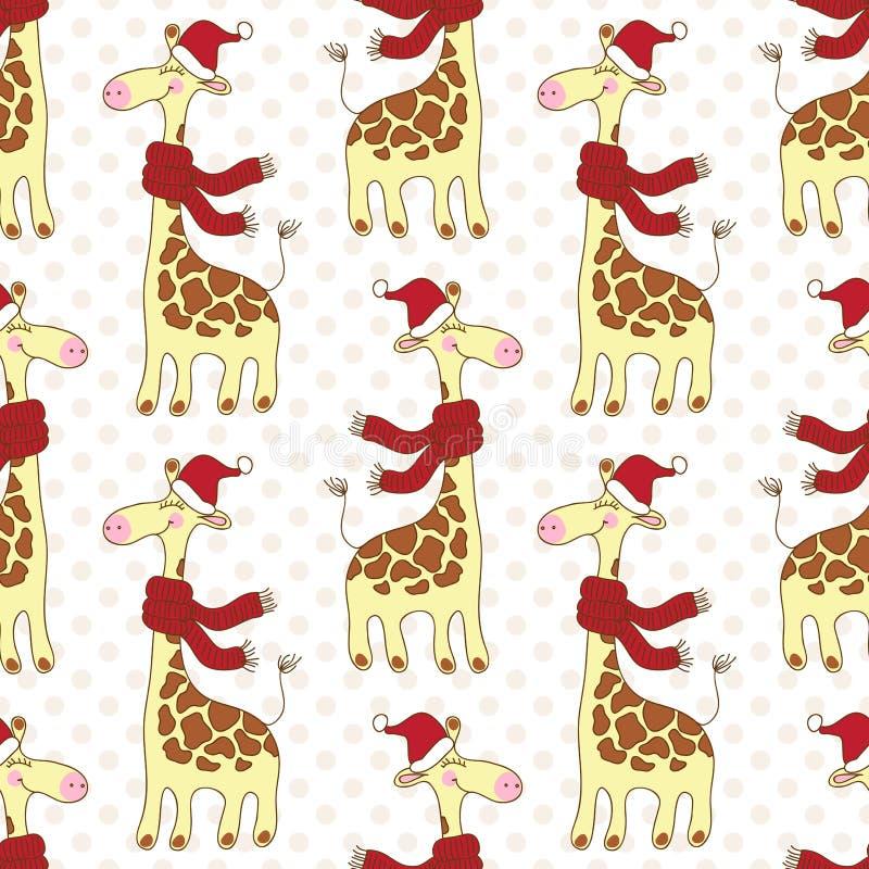 Modèle sans couture de girafes illustration stock