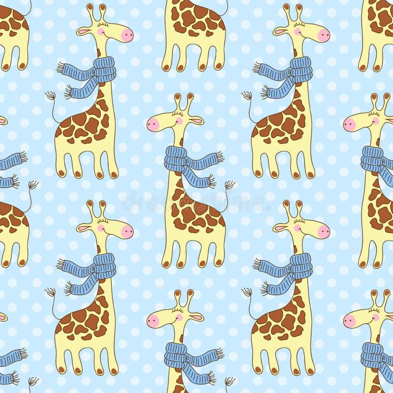 Modèle sans couture de girafes illustration libre de droits