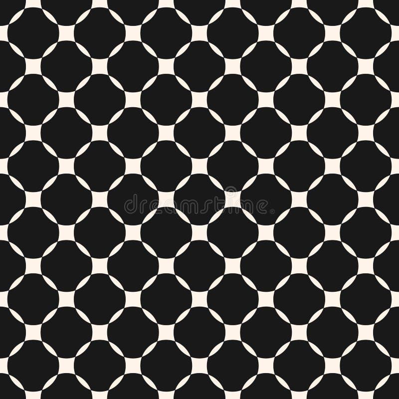 Modèle sans couture de grille monochrome géométrique de vecteur Maille, trellis Configuration marocaine illustration de vecteur