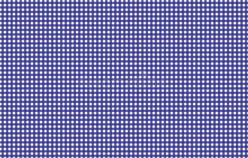 Modèle sans couture de guingan bleu et blanc d'impression Texture de rhom illustration libre de droits