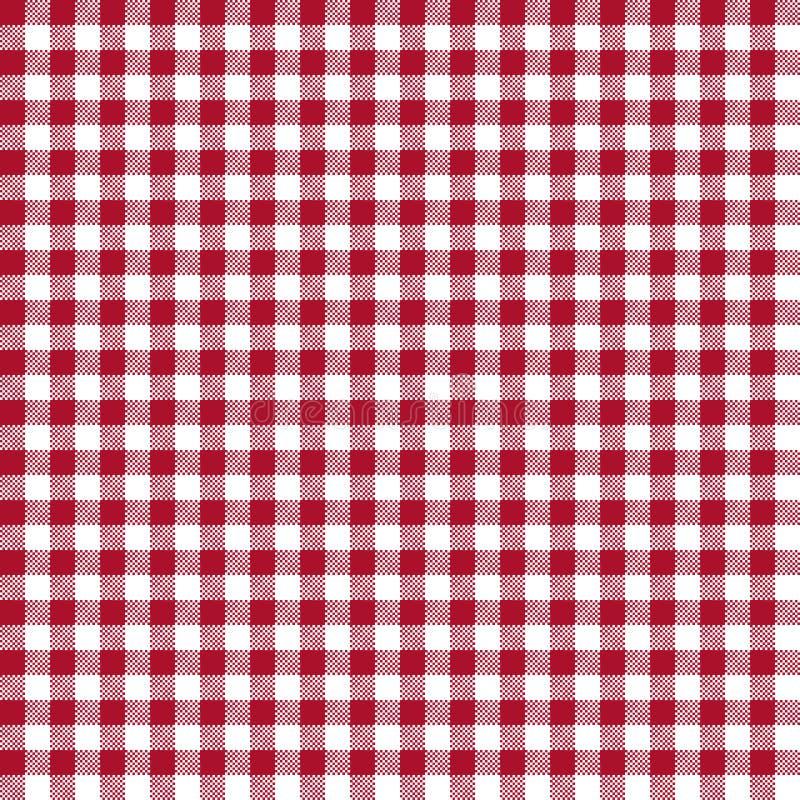 Modèle sans couture de guingan rouge illustration libre de droits