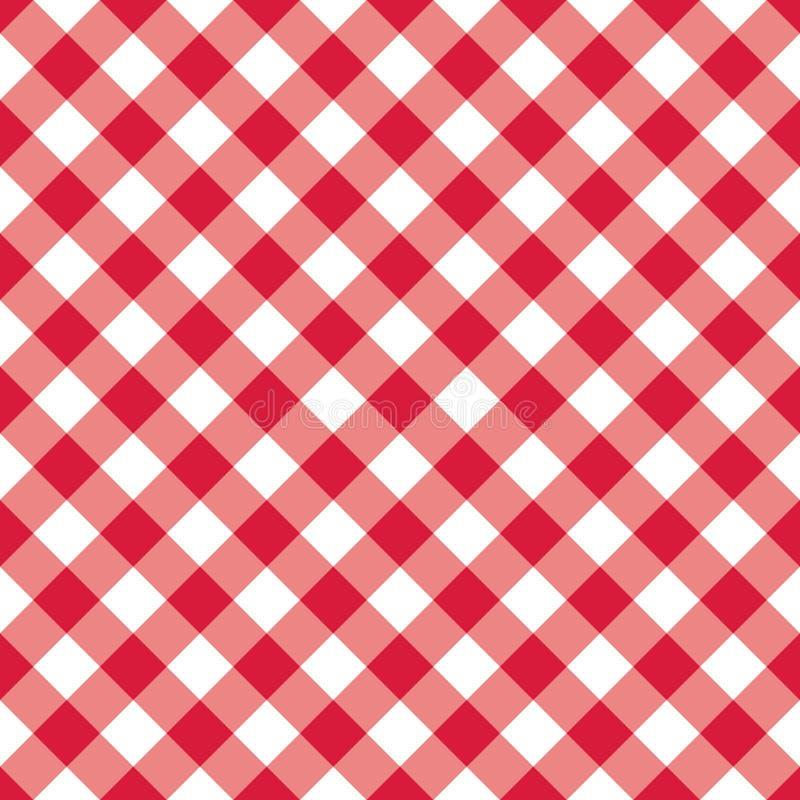 Modèle sans couture de guingan de texture Produits textiles à carreaux rouges Dirigez les places ou le losange d'illustration pou illustration stock