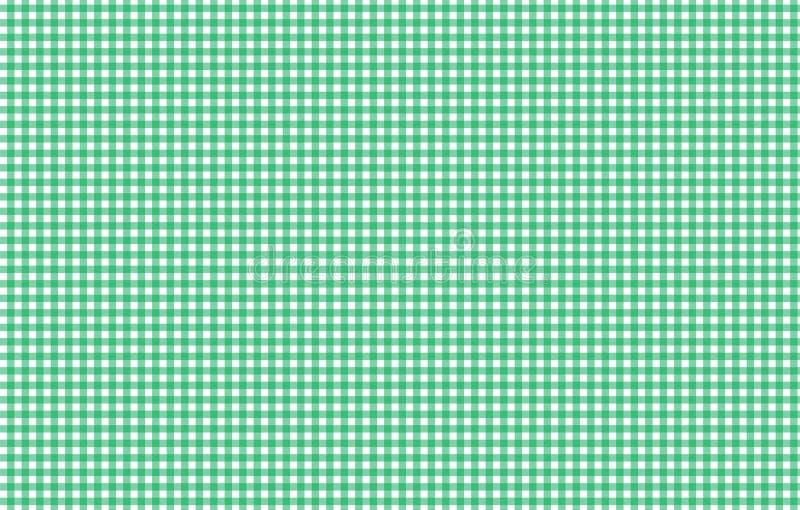 Modèle sans couture de guingan vert et blanc Texture de rhombus/s illustration de vecteur