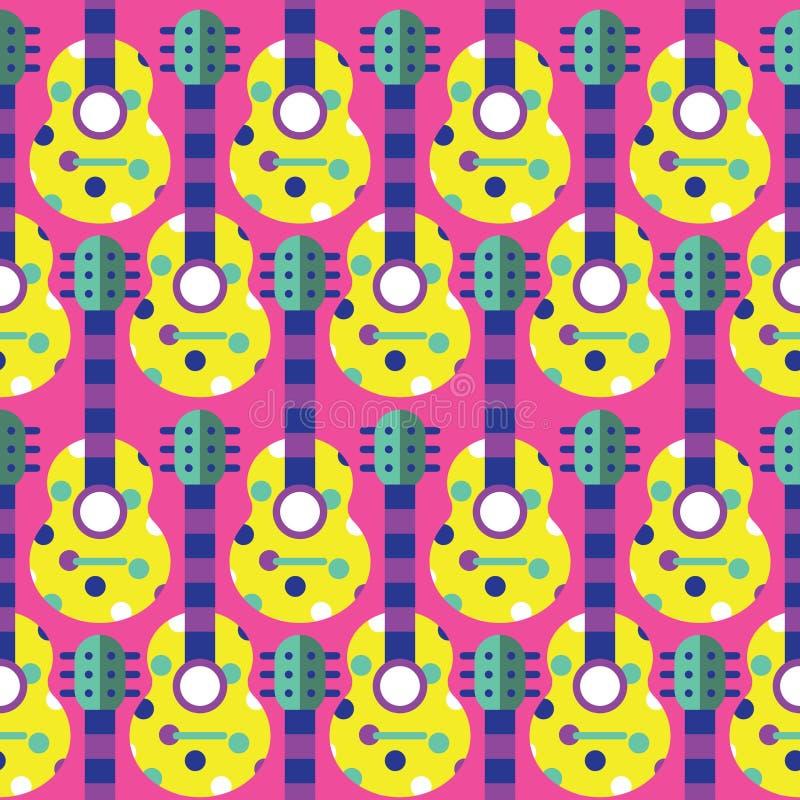 Modèle sans couture de guitare photographie stock