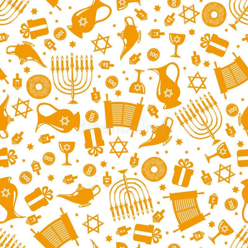 Modèle sans couture de Hanoucca illustration stock