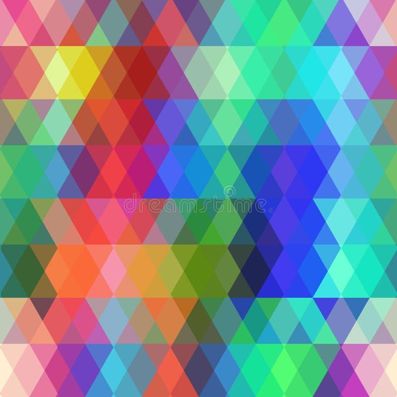 Modèle sans couture de hippies abstraits avec le losange coloré Fond géométrique Vecteur illustration libre de droits