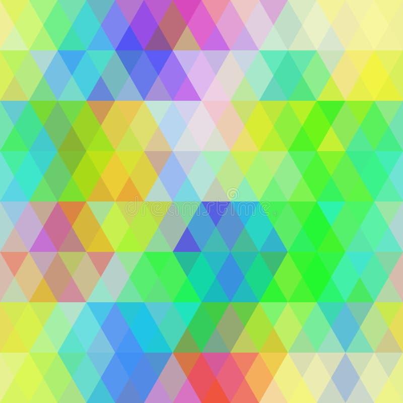 Modèle sans couture de hippies abstraits avec le losange coloré lumineux illustration de vecteur