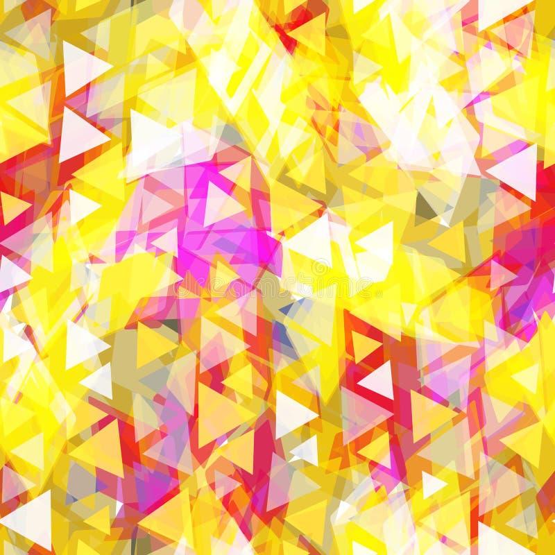 Modèle sans couture de hippies abstraits avec le losange coloré lumineux Fond géométrique pour le site, blog, col rose pourpre ja illustration stock
