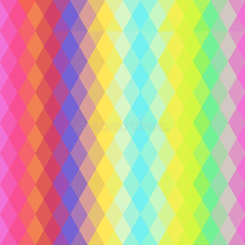 Modèle sans couture de hippies abstraits avec le losange coloré lumineux Fond géométrique Vecteur illustration libre de droits
