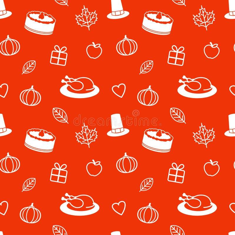 Modèle sans couture de jour de thanksgiving illustration stock