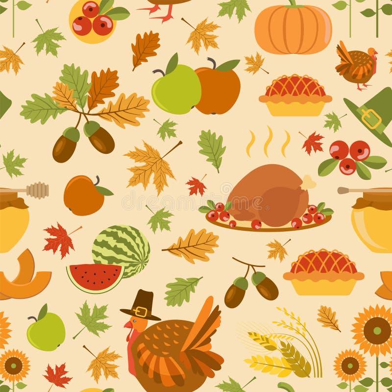 Modèle sans couture de jour de thanksgiving illustration de vecteur