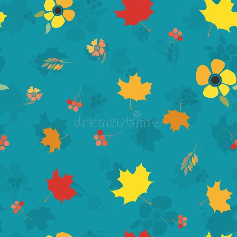 Modèle sans couture de jour heureux de thanksgiving illustration libre de droits