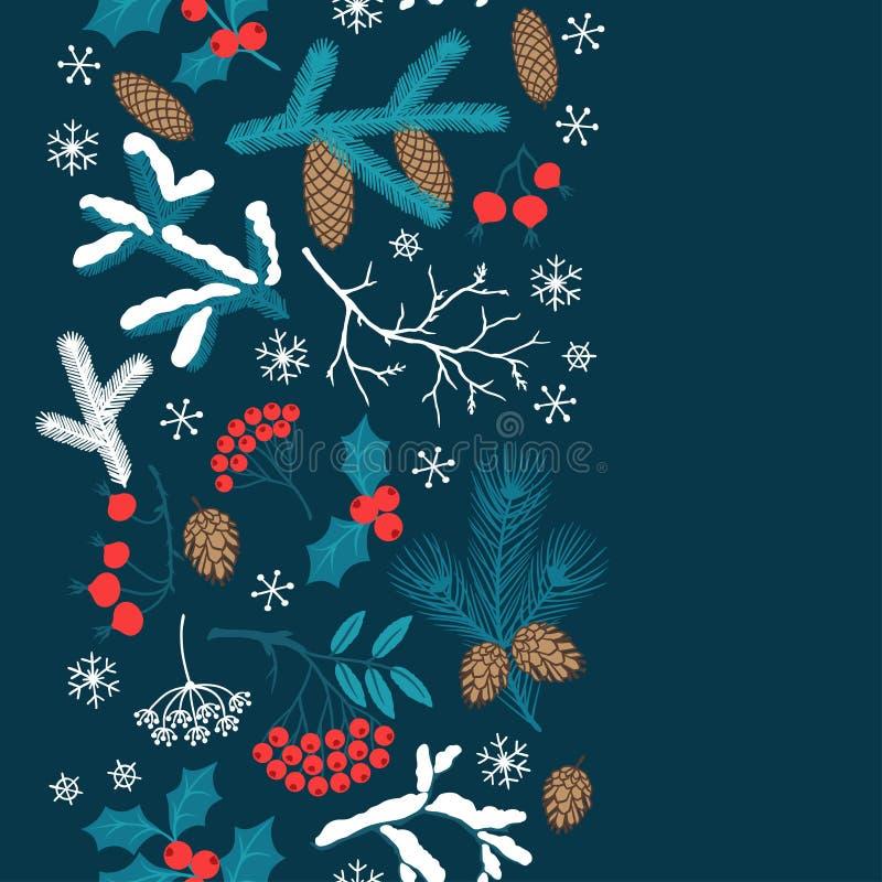 Modèle sans couture de Joyeux Noël avec l'hiver illustration libre de droits
