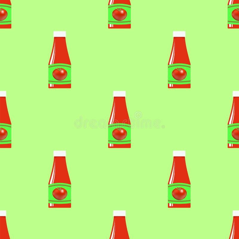 Download Modèle Sans Couture De Ketchup De Tomate Illustration Stock - Illustration du déjeuner, ketchup: 77159409