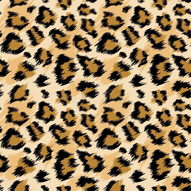 Modèle sans couture de léopard à la mode Fond repéré stylisé de peau de léopard pour la mode, copie, papier peint, tissu illustration stock
