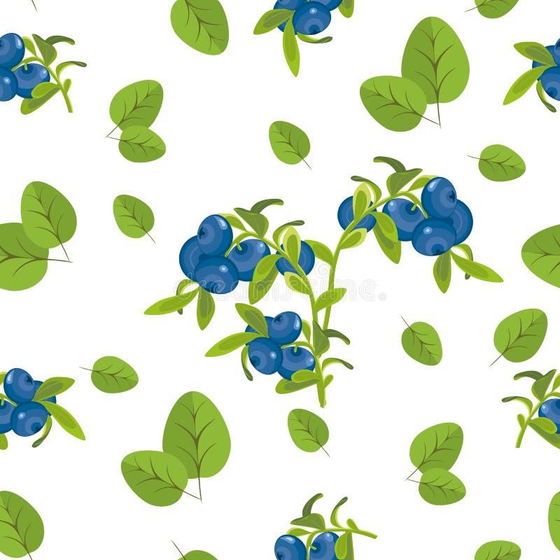 Modèle sans couture de l'image réaliste des baies mûres Branche, berr illustration stock