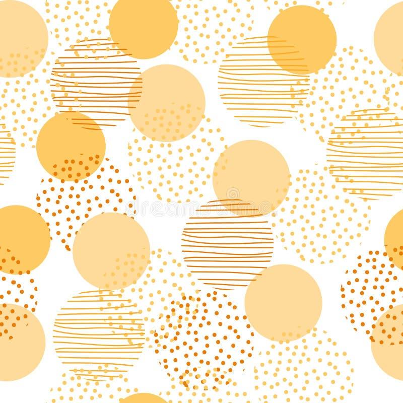 Modèle sans couture de la géométrie de cercle de style de cru conception extérieure d'illustration pour la copie et le Web illustration de vecteur