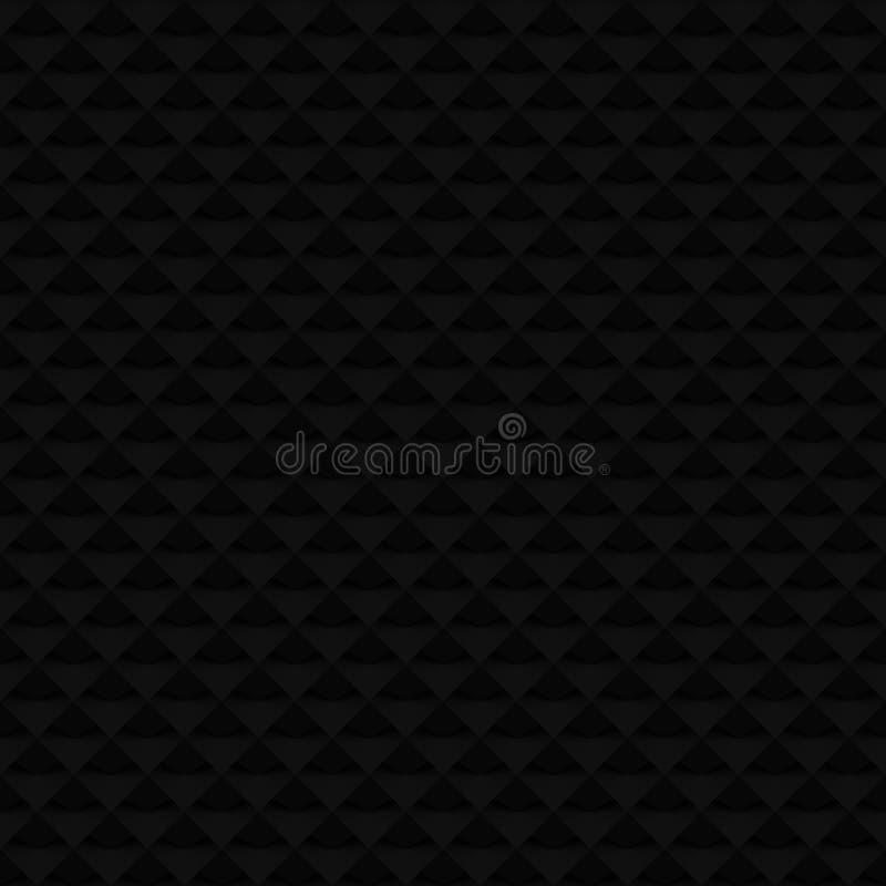 Modèle sans couture de la trame 3D noire image libre de droits