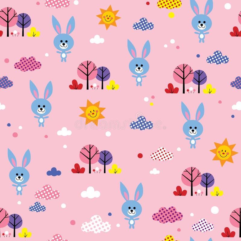 Modèle sans couture de lapins illustration stock