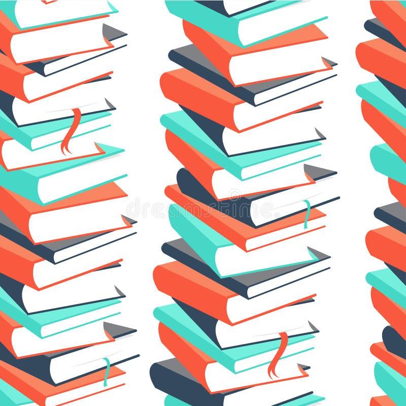 Modèle sans couture de livre illustration stock