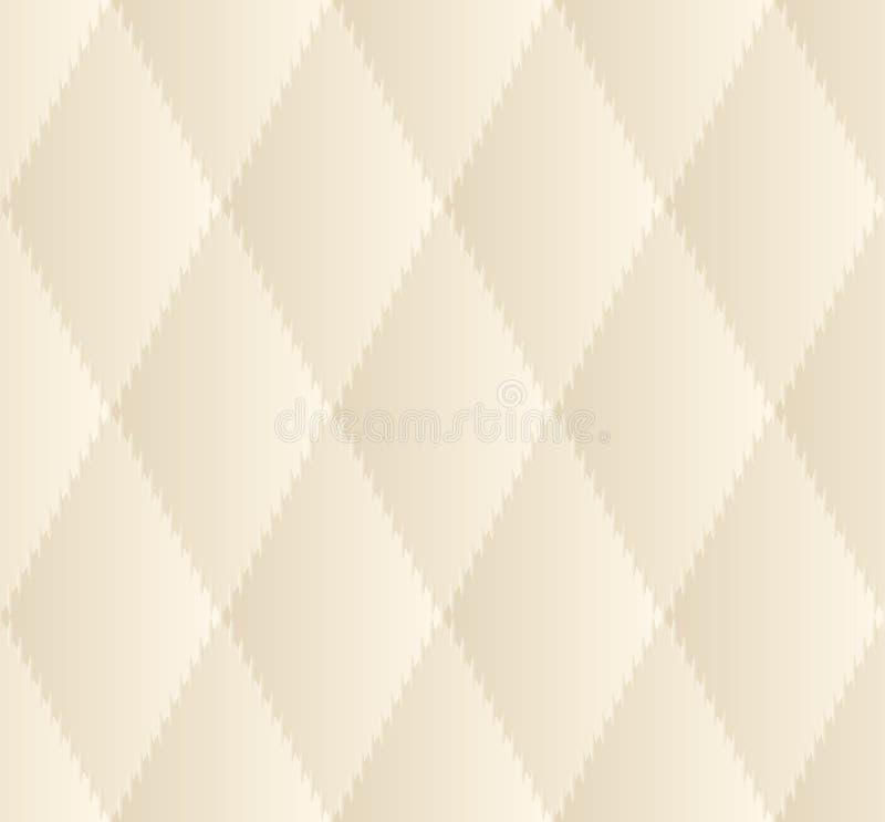 Modèle sans couture de losange beige illustration libre de droits